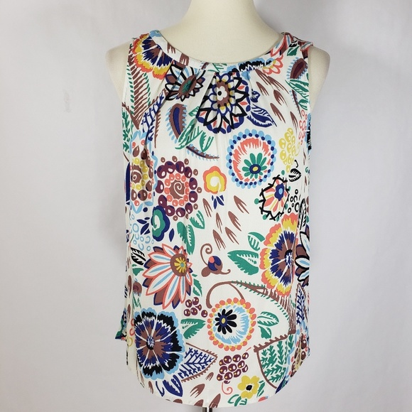 efae67210fcaa7 Boden Tops - Boden Floral Sleeveless Multi-Color Top Ties Sz 8
